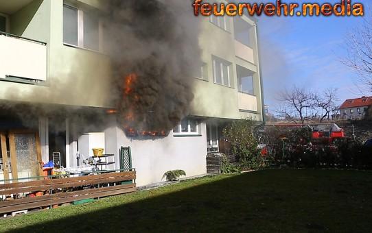 Wohnungsbrand im Kremser Bründlgraben (+Video)