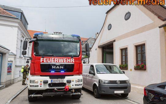 Brennende Waschmaschine vor Eintreffen der Feuerwehr gelöscht