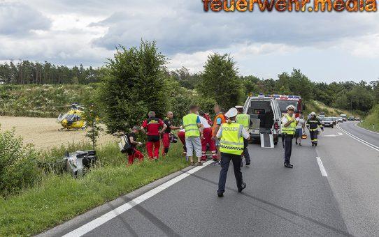 Fahrzeuglenkerin bei Unfall auf der B37 verletzt