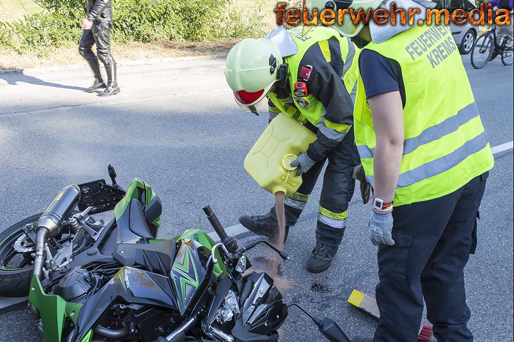 Motorradunfall in Rehberg fordert einen Verletzten