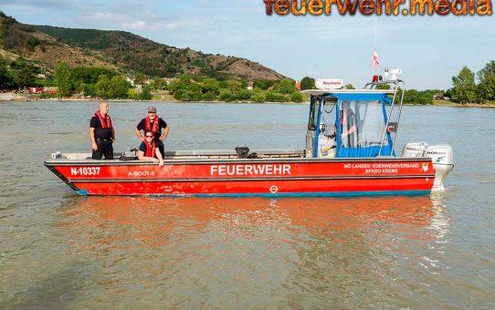 Suche nach 23-jährigem Schwimmer auf der Donau bei Rossatzbach