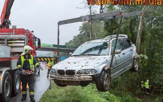 Unfall mit zwei Verletzten auf der B37a