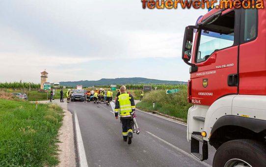 Zwei fahruntüchtige Fahrzeuge nach Unfall auf der L114