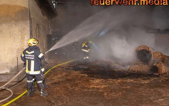 Größerer Schaden bei Brand auf einem Bauernhof verhindert