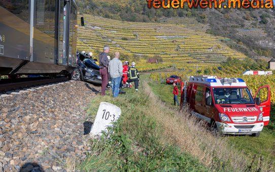 Frau bei Zusammenstoß mit Zug getötet