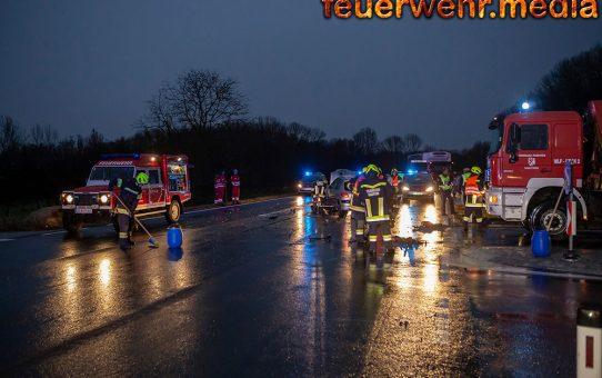 Unfall auf der B33 bei der Abfahrt zum Mauterner Gewerbegebiet