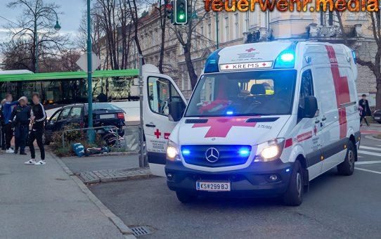 Vier Verletzte nach Unfall auf der Kremser Ringstraße