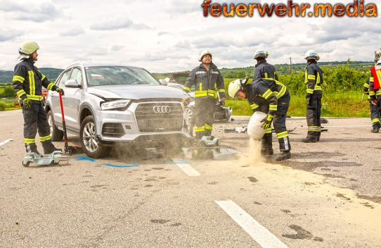 Mehrere Verletzte bei Unfall auf der L114