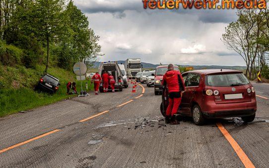 Unfall im neu errichteten Baustellenbereich der B37