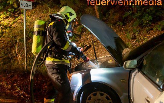 Pkw-Brand zwischen Krems und Egelsee