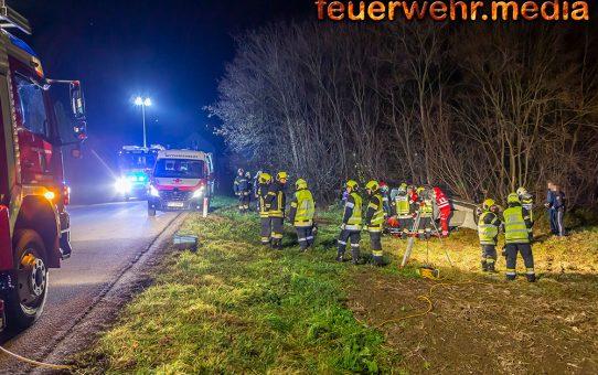 Ein Verletzter nach Pkw-Überschlag in Zeiselberg