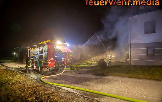 Vier Feuerwehren bei Kellerbrand in Rastenfeld im Einsatz