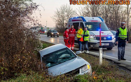 Bezirksübergreifender Einsatz bei Unfall auf der L100