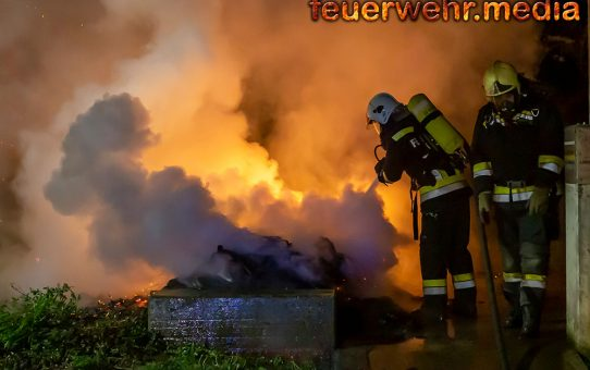 Neuerlicher Müllbehälterbrand in Krems-Stein
