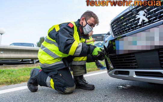Auffahrunfall auf der B3 in Krems-Stein