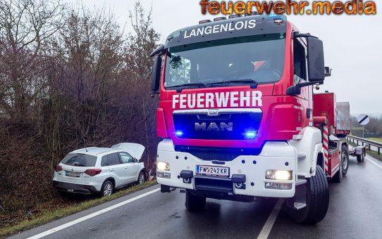 Kreuzungsunfall mit zwei Fahrzeugen auf der B34