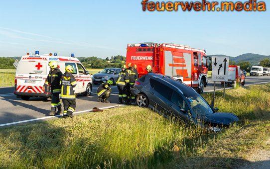 Unfall im Frühverkehr der B37