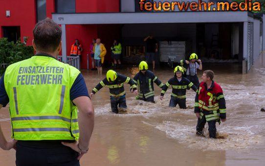 Katastrophenszenario nach Unwettern im Bezirk Krems