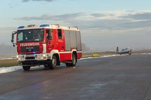 Aufstellungsalarm für eine Notlandung am Flugplatz Krems-Langenlois