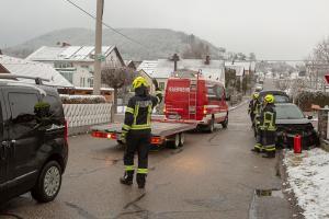 Verlehrsunfall auf der Eggendorferstraße in Paudorf