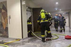Brandbestätigung bei TUS-Alarm im Universitätsklinikum Krems