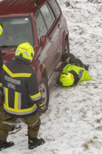Reanimation nach Verkehrsunfall auf der L7041 in Gföhl