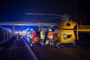 Mehrere Personen bei Frontalzusammenstoß auf der S5 verletzt