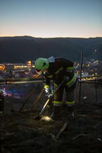 Flurbrand fordert höchsten körperlichen Einsatz für die Einsatzkräfte