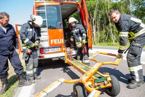 Auffahrunfall auf der Rampe zur St. Pöltner Brücke