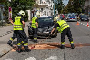Kurze Verkehrsbehinderung nach Unfall auf der Ringstraße