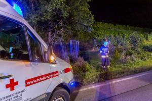 Zwei verletzte Personen auf der B37a Abfahrt Hollenburg