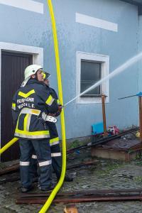 Schweinestall in Marbach im Felde in Brand geraten