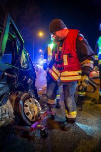 Wendemanöver auf der B37 führt wieder zu einem Unfall