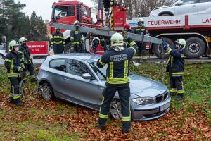 Kreuzungsunfall mit zwei Pkw auf der B34 in Langenlois