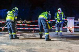 Pkw prallt auf der Kremstalstraße gegen die Leitschiene