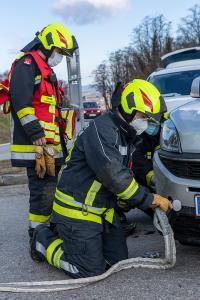 Kollision von zwei Fahrzeugen am Göttweiger Berg