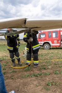 Segelflugzeug bei einer Außenlandung verunglückt
