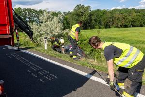 Auffahrt Krems Ost für eine Pkw-Bergung kurz gesperrt
