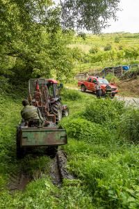 Traktor kommt ins Rutschen und stürzt ab - Fahrer verletzt