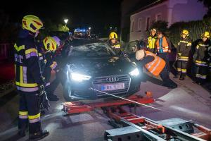 Parkendes Auto gerammt und anschließend überschlagen