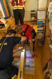 Drohender Einsturz einer Holzstiege verhindert