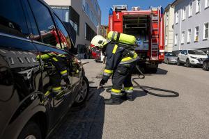 Rauchentwicklung bei Pkw nach Motorschaden
